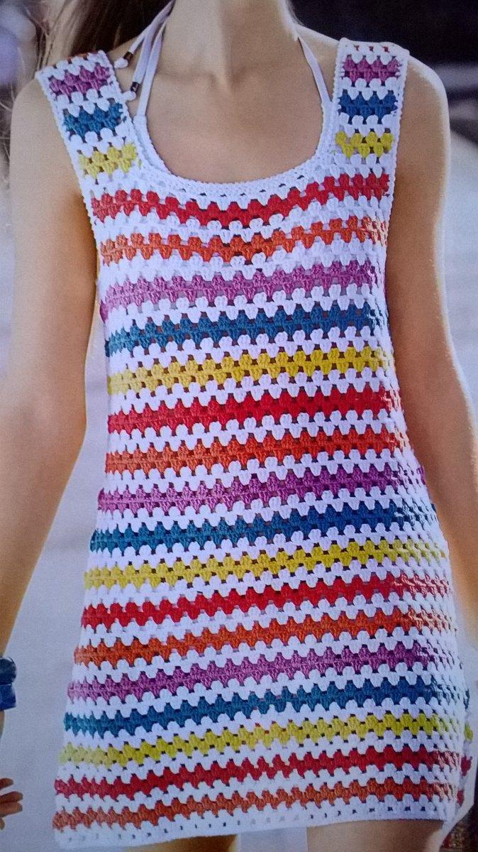 Dámské háčkované šaty – Potvor - pomáhat tvořit 2a2feadcf6