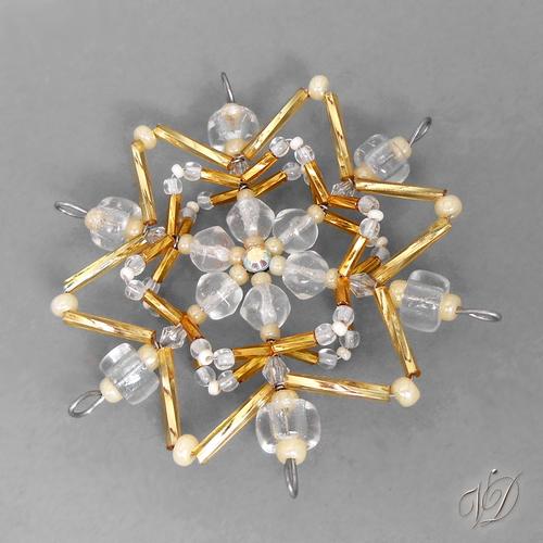 99467e566 Vánoční hvězda z korálků KO181 - 3D (PEVNÁ A NEREZ) – Potvor ...