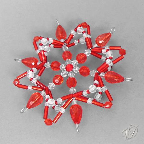 002aca231 Vánoční hvězda z korálků KO199 - 3D (PEVNÁ A NEREZ) – Potvor ...