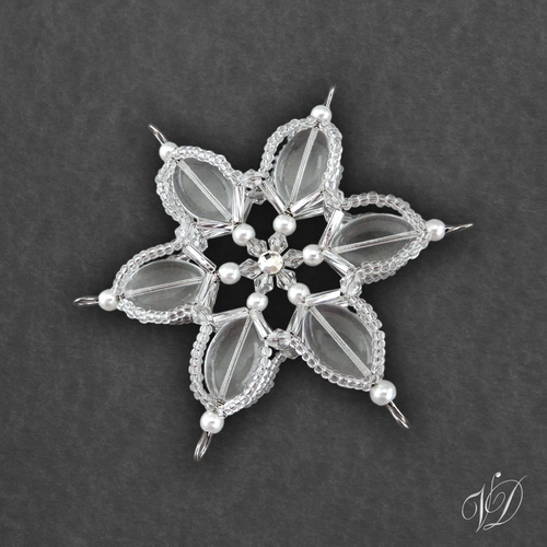 04bc5fa5bf4 Vánoční hvězda z korálků KO260 (PEVNÁ A NEREZ) – Potvor - pomáhat tvořit