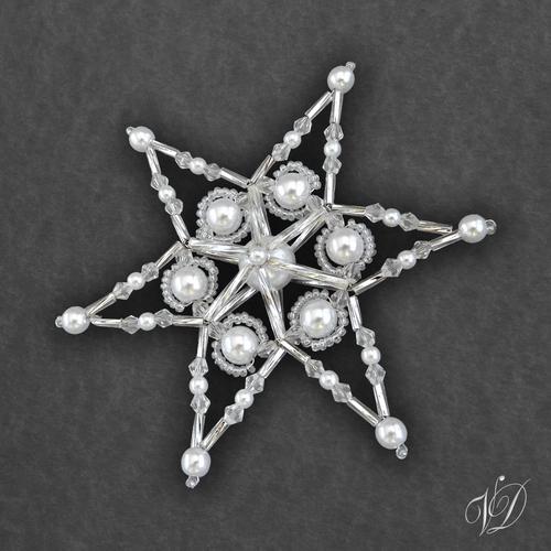 ed17fc373 Vánoční hvězda z korálků KO270 - 3D (PEVNÁ A NEREZ) – Potvor ...