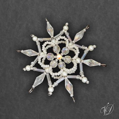 2b811fb83 Vánoční hvězda z korálků KO278 - 3D (PEVNÁ A NEREZ) – Potvor ...