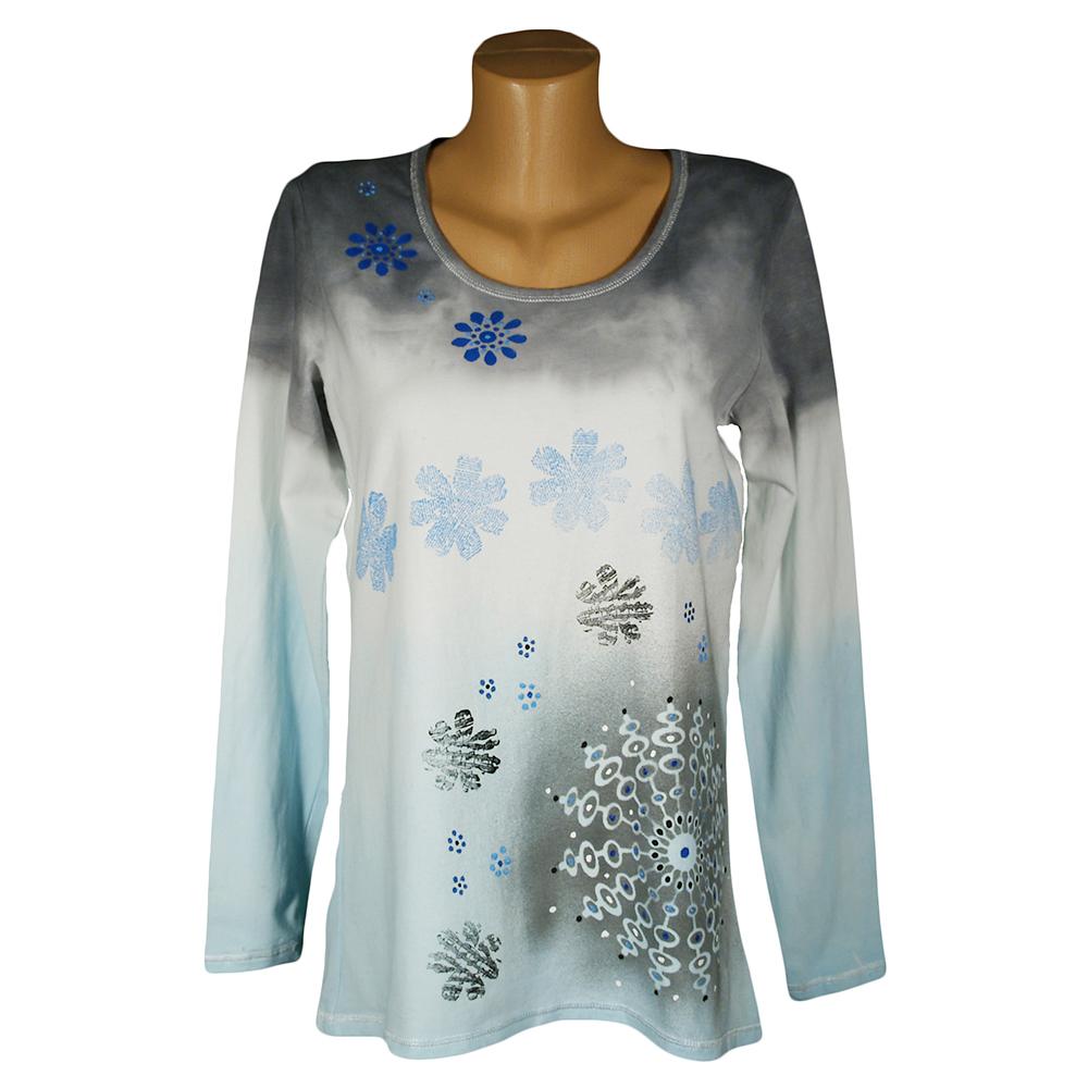 26184a011410 Batikované tričko světlounce modro šedé – Potvor - pomáhat tvořit