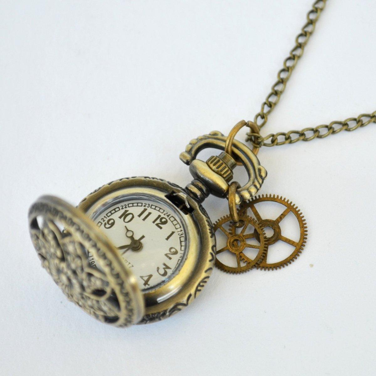 64752d3d6 DÁMSKÉ HODINKY NA KRK, hodinkový náhrdelník – Potvor - pomáhat tvořit
