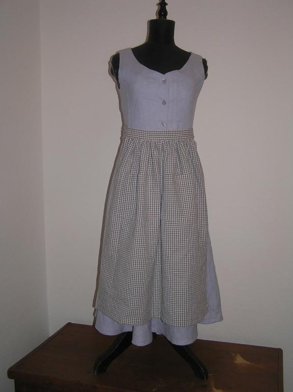 Dámské lněné šaty – Potvor - pomáhat tvořit 0b6026253f