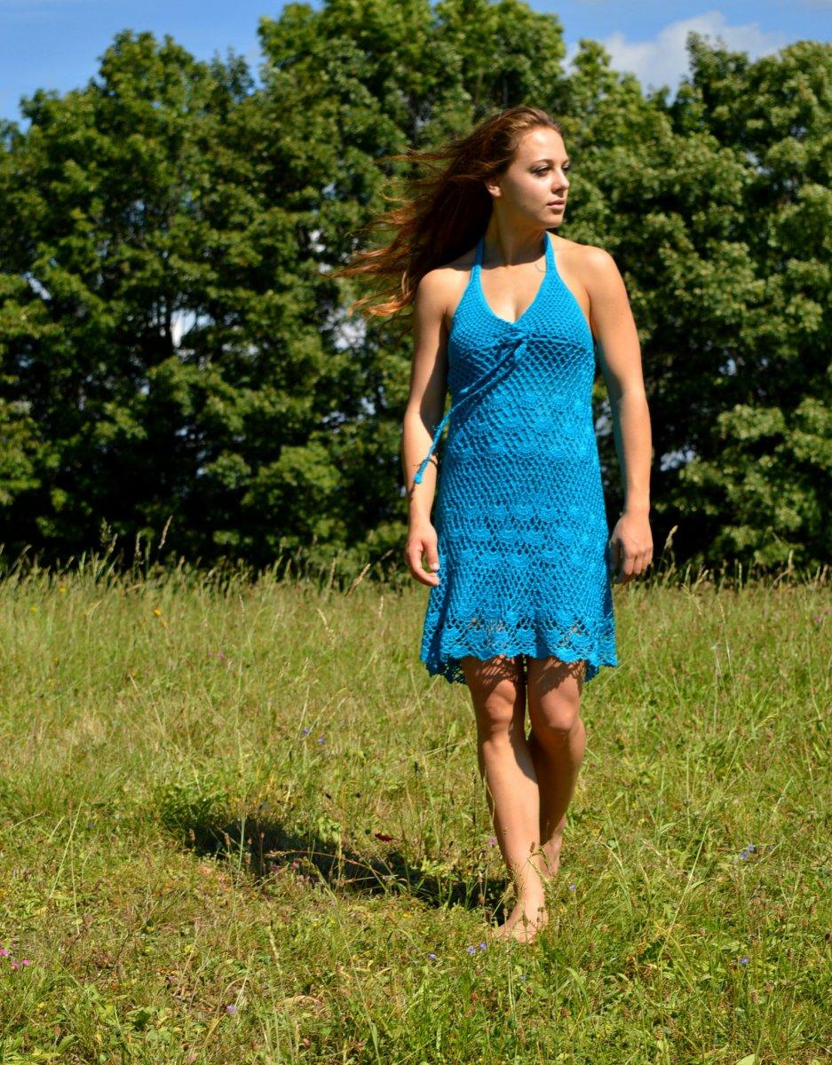 b48e0504636e Letní háčkované šaty SEA – Potvor - pomáhat tvořit