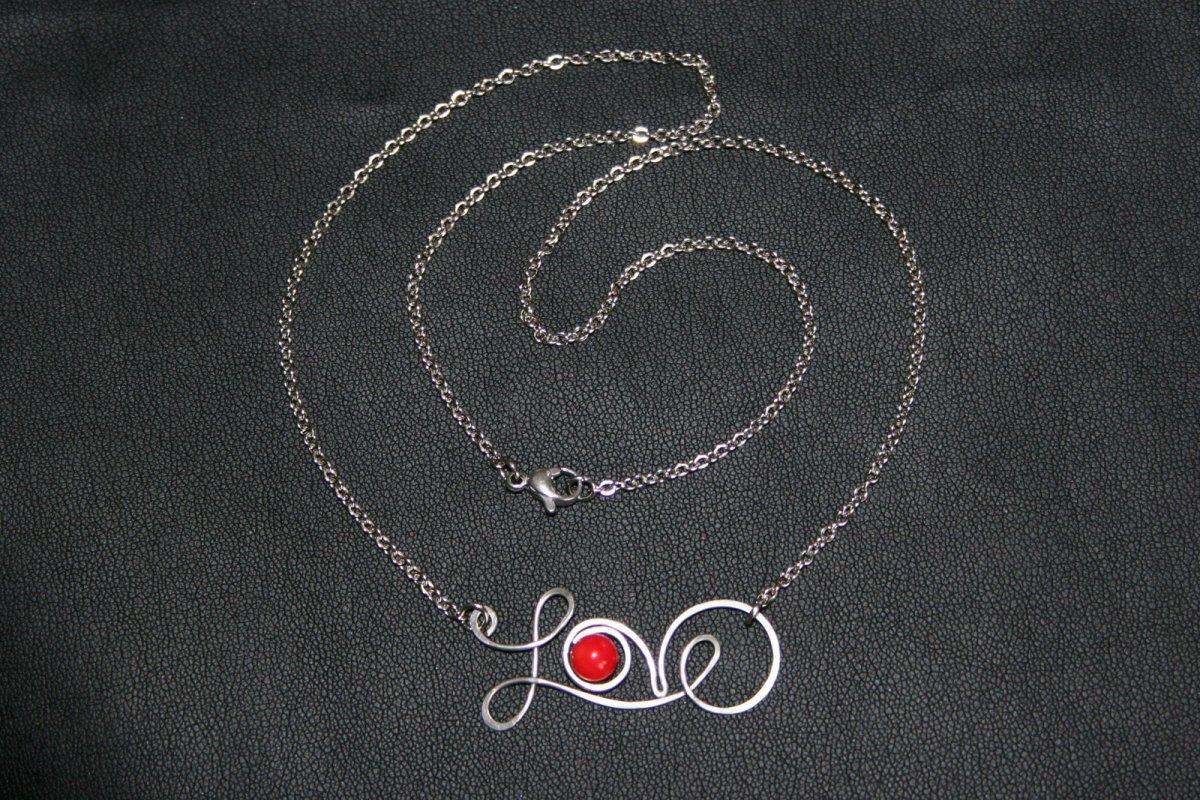 LOVE - náhrdelník - ocel - KAMÍNEK NA PŘÁNÍ – Potvor - pomáhat tvořit cd9b2ea98a