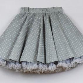 FuFu sukně FuFu sukně šedý puntík s šedou spodničkou 39e9a39358