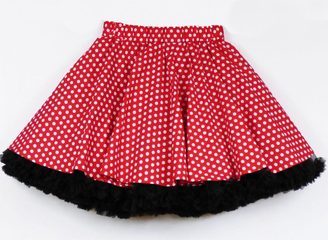 c1877f856e8 FuFu sukně červený puntík s černou spodničkou – Potvor - pomáhat tvořit
