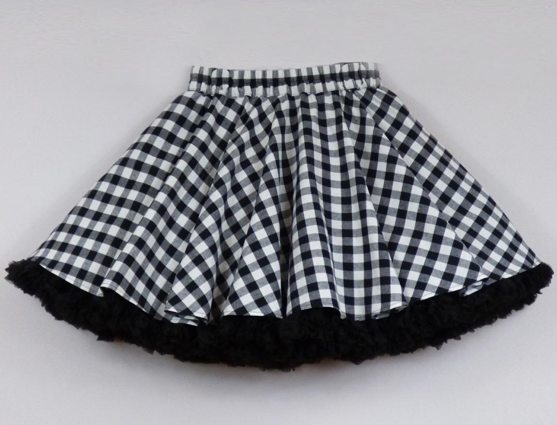 7a486f6cf7b FuFu sukně s černou kostkou a černou spodničkou – Potvor - pomáhat ...