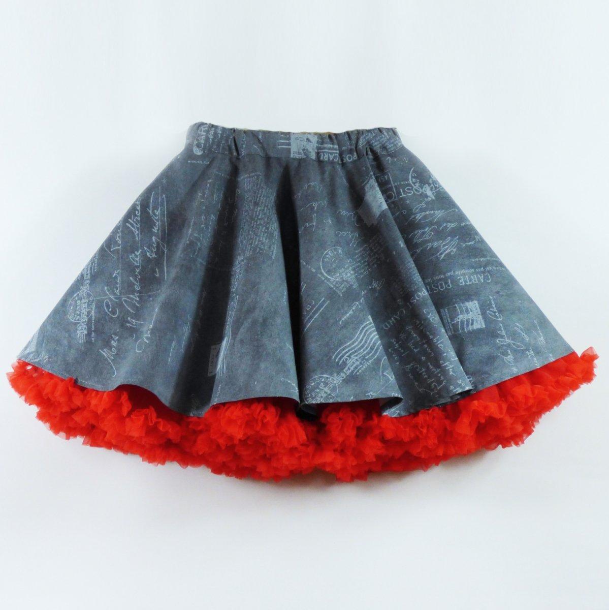 5ee445c159a FuFu sukně vzor text + červená spodnička – Potvor - pomáhat tvořit