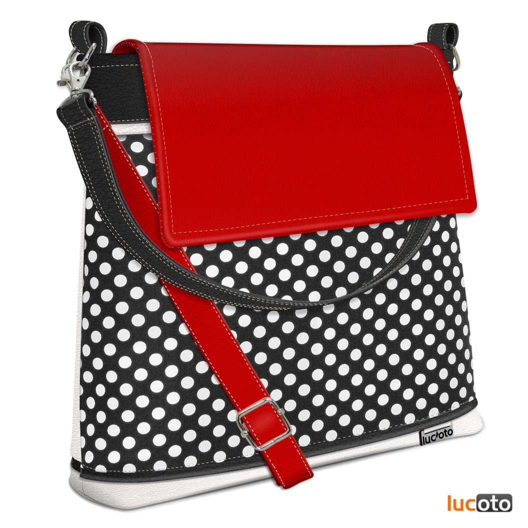 Evi One Dot black , white and red