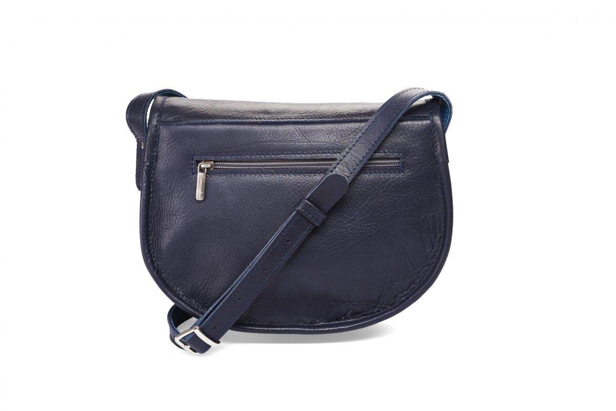 Midi kožená kabelka - tmavěmodrá – Potvor - pomáhat tvořit 42aeee271b