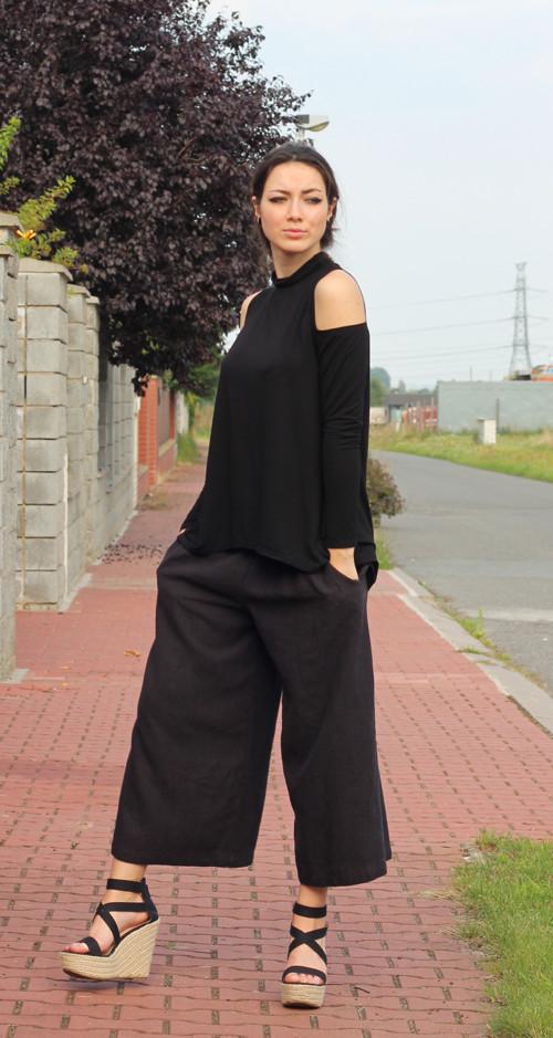 Volné lněné kalhoty – Potvor - pomáhat tvořit c02d0ddcef