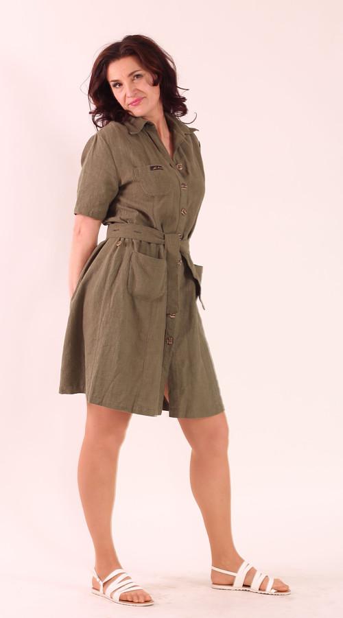 Lněné propínací šaty – Potvor - pomáhat tvořit c0ec029890