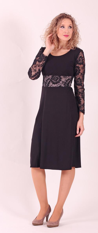 473f71302d2f Černé společenské šaty s krajkou – Potvor - pomáhat tvořit