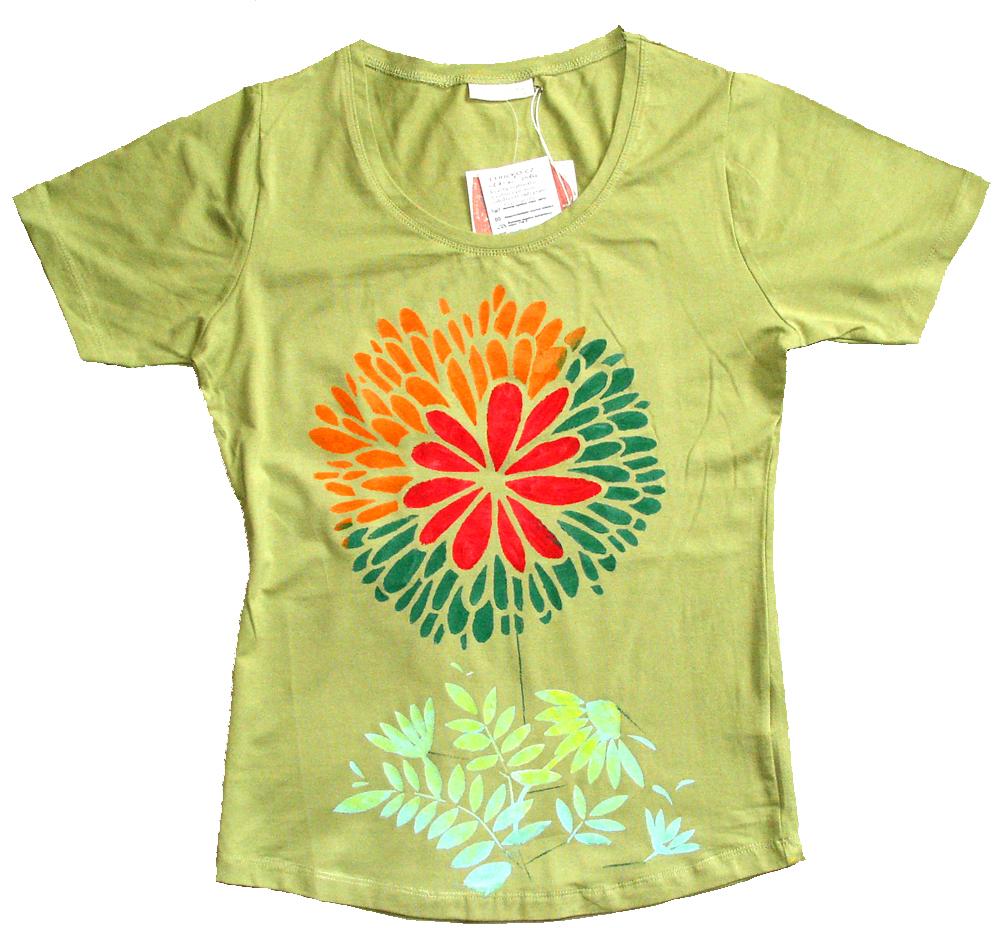 Dámské tričko kratky rukav květiny multicolores. – Potvor - pomáhat ... 1fd086b05d
