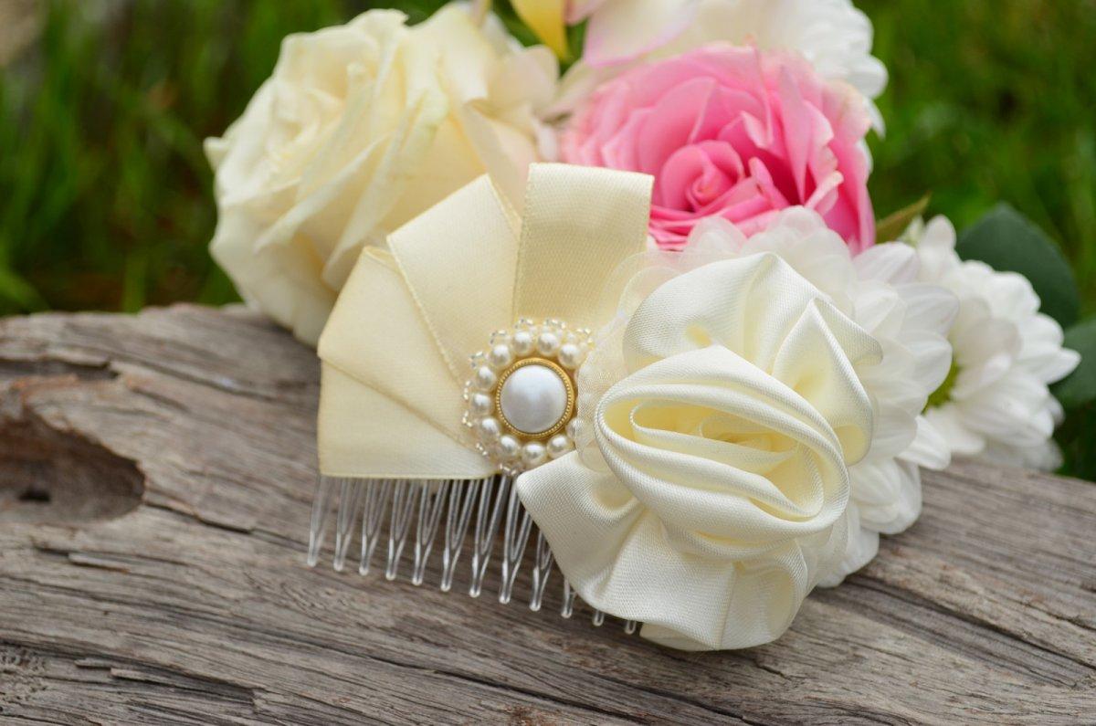 Svatební hřebínek do vlasů Ivory Love – Potvor - pomáhat tvořit dab307151c