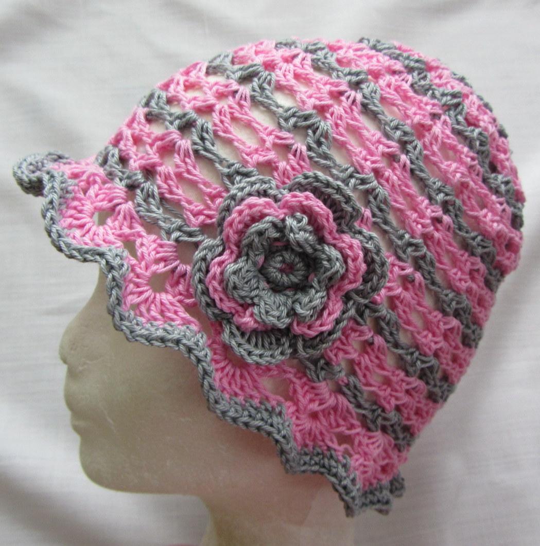 Háčkovaný klobouček – Potvor - pomáhat tvořit 92933f9488
