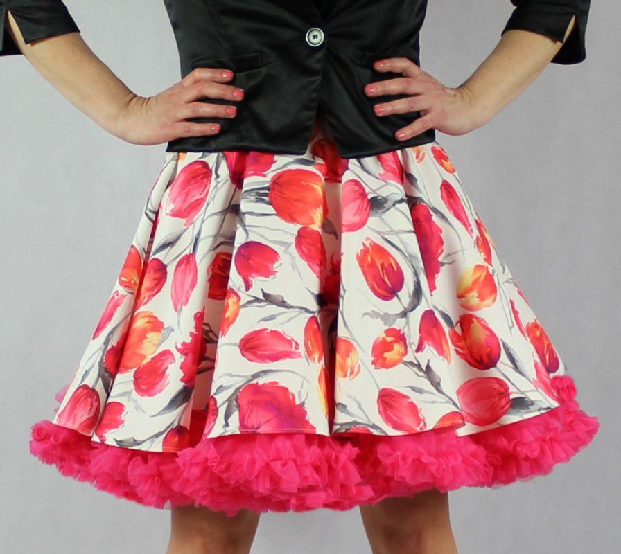 12b87b1e34c FuFu sukně tulipány s pink spodničkou – Potvor - pomáhat tvořit