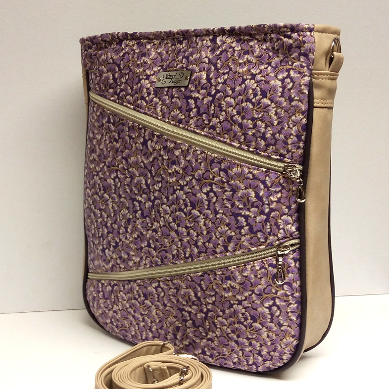 Zipper Trio - Violet and Gold Ivy