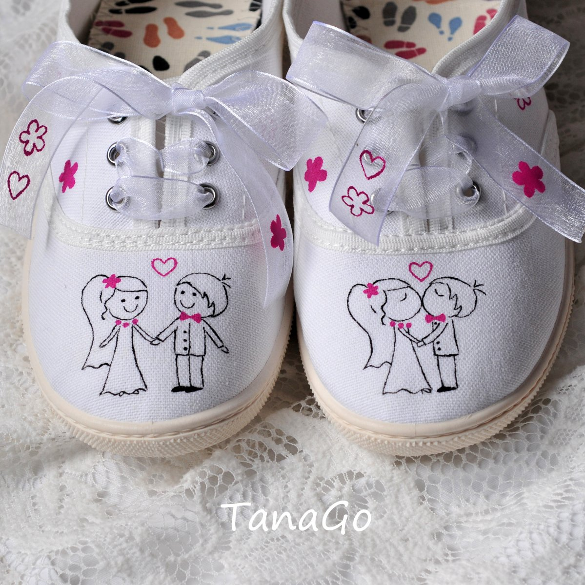 Svatební tenisky v růžové + jméno 7d4a919d78