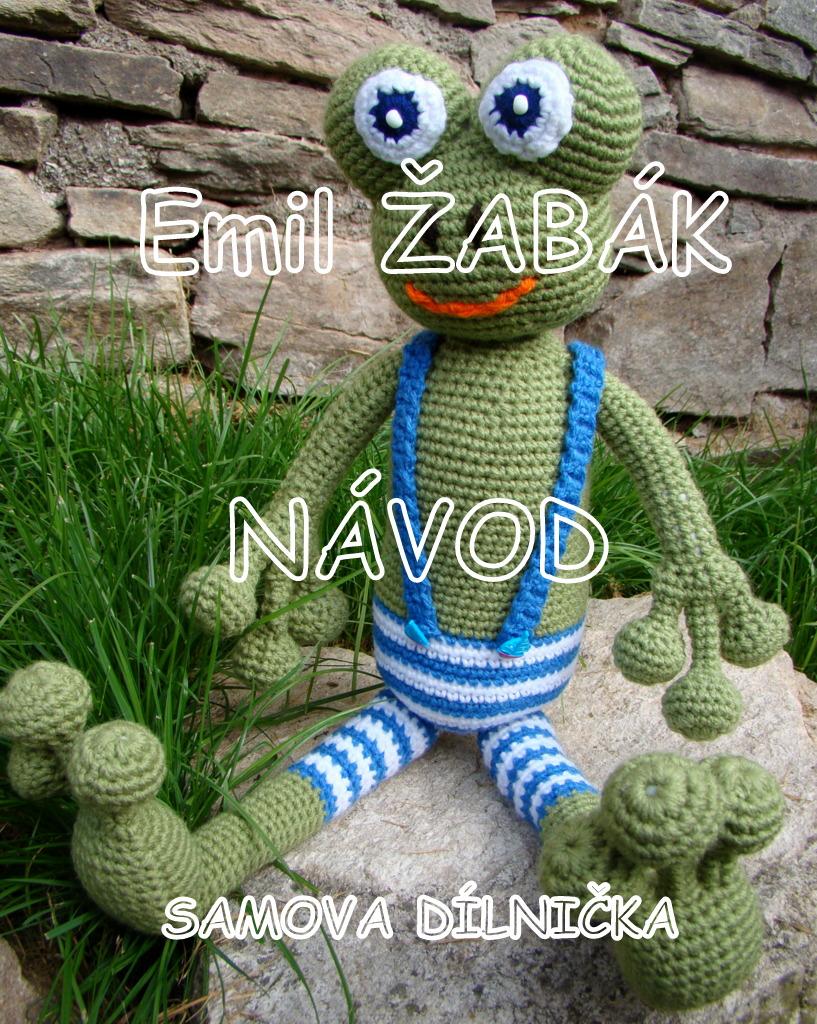 NÁVOD Emil Žabák - žabák v retro plavkách - háčkovaná maxi hračka ... fda6364ca6