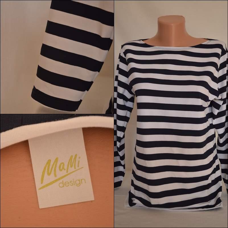 1d39f24ee1b Dámské námořnické triko s elastanem – Potvor - pomáhat tvořit
