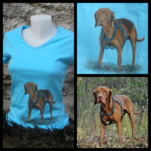 pes- originální ručně malované tričko podle fotky 66fafaa496