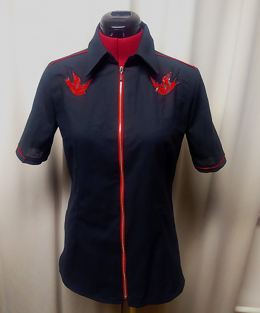 8f1454018a2 Rockabilly košile s vlaštovkami – Potvor - pomáhat tvořit