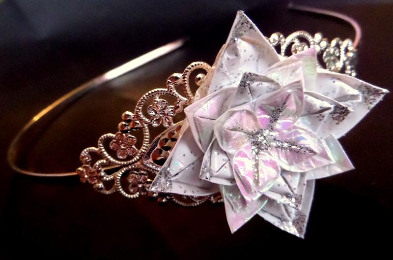 0527ae619b3 Zimní královna - origami čelenka – Potvor - pomáhat tvořit