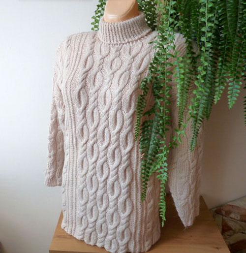 Zimní pletený svetr - zasněžená romance - vel.L-XXL – Potvor ... 78e241294f
