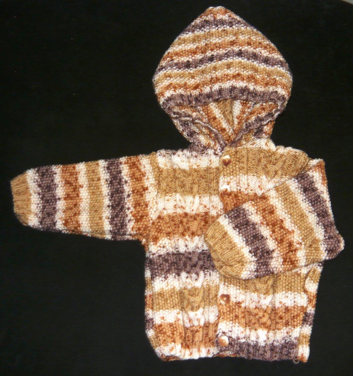 e83e226b61bf Dětský ručně pletený svetr s kapucí 12-18 měsíců – Potvor - pomáhat ...