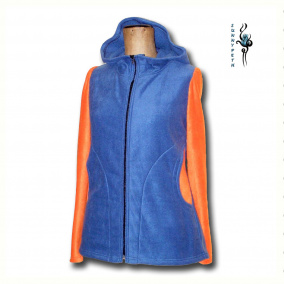 Mikina 2v1 ,,Blue&Orange In The Winter""