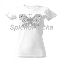 Antistresové vybarvovací tričko - motýl a dva ptáčci 0f97584c8c