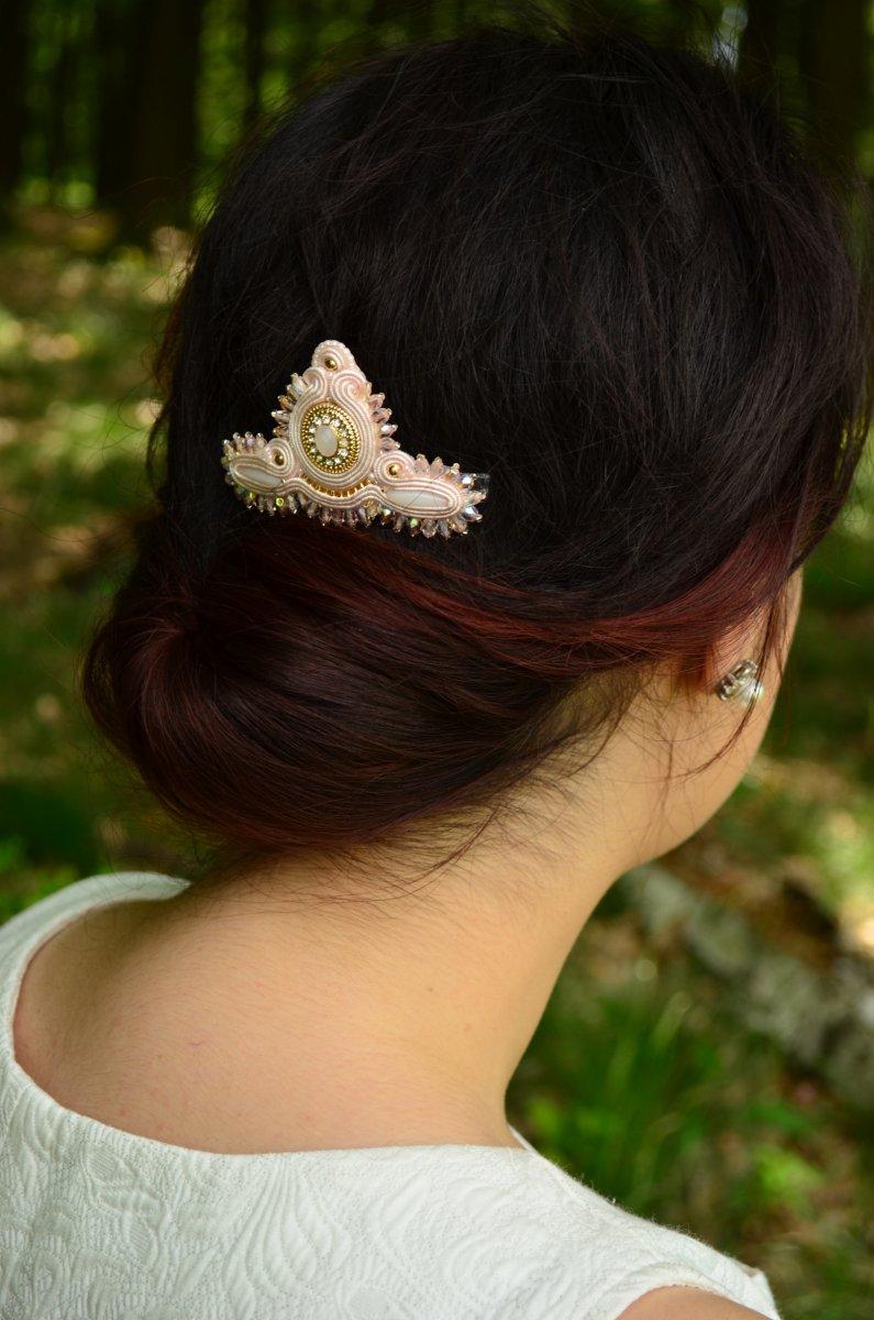 Soutache Svatební hřebínek do vlasů Rose Love – Potvor - pomáhat tvořit fb91881dab