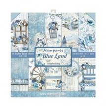 Sada oboustranných papírů 30x30cm Modrá provence (10ks) (SBBL47) 4bfae09f32