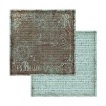 Oboustranný papír na scrapbook Notová osnova a ornamenty (SBB566) 73fb97dec9
