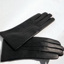 Pánské černé kožené rukavice s hedvábnou podšívkou 9d22729ebb